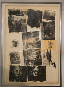 "Lithograph: ""Landmark 1968"" by Robert Rauschenberg"