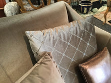 Velvet and Pleather Loveseat