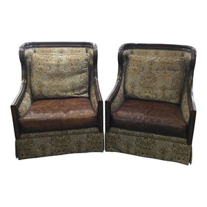 Marge Carson Wingback Chairs - a Pair