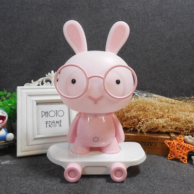 Lampe Lapin Lunette Rose