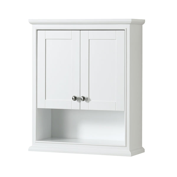 Wyndham Collection Deborah Over-toilet Wall Cabinet White
