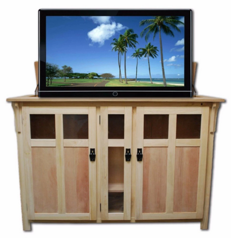 "Touchstone The Bungalow Unfinished TV Lift Cabinet for 60"" Flat screen TVs 70162"