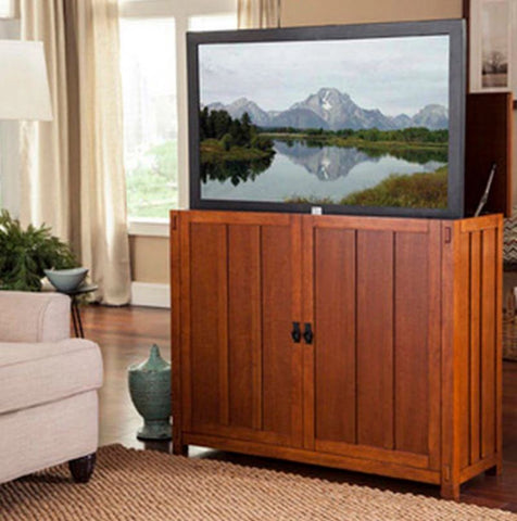 "Touchstone Elevate Mission Style TV Lift Cabinet for 50"" Flat screen TVs 72006"