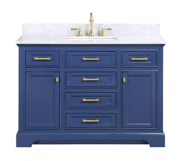 "Design Element Milano 48"" Single Sink Vanity in Blue ML-48-BLU"