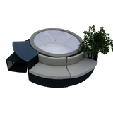 Planter - Round Spa Surround Furniture - Admired Home