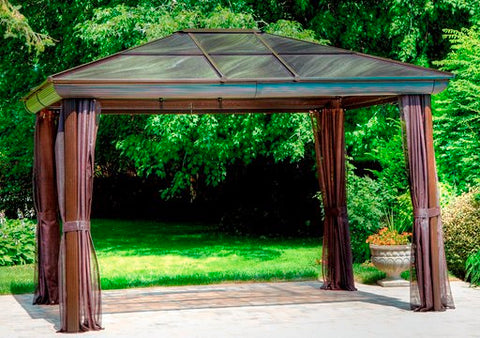 Gazebo Penguin Venus Gazebo 10 Ft. x14 Ft. in Brown or Slate