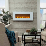 "Touchstone Ivory 50"" Wall Mounted Electric Fireplace 80002"