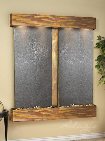 Adagio Cottonwood Falls Square Rustic Copper Black Featherstone CFS1011
