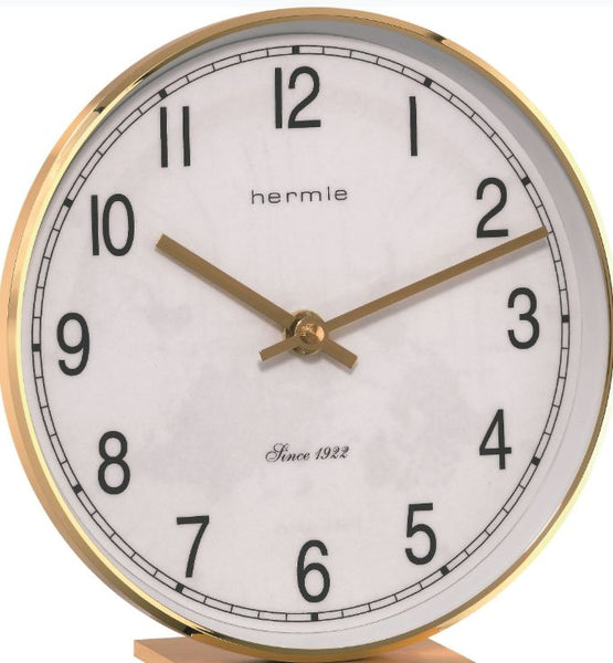 Hermle Fremont Brass Table Clock with a Quartz Time