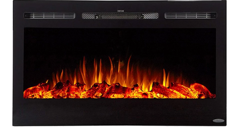 "Touchstone Sideline 36"" Recessed Electric Fireplace 80014"