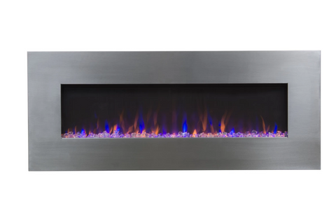 "Touchstone AudioFlare Stainless 50"" Recessed Electric Fireplace 80024"