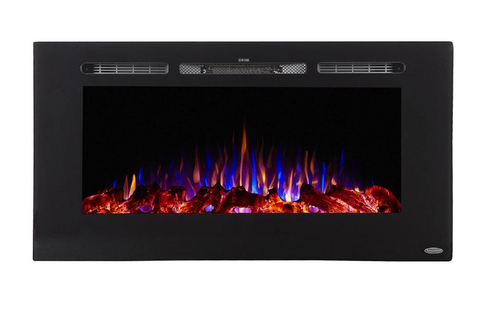 "Touchstone Sideline 40"" Recessed Electric Fireplace 80027"