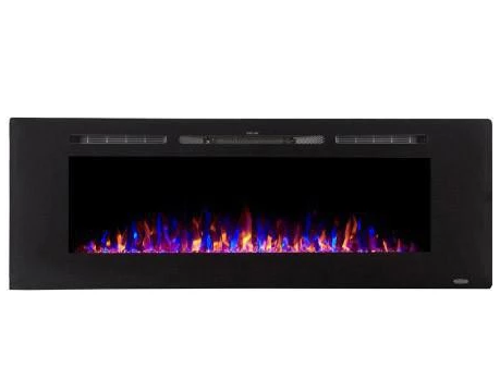 "Touchstone Sidelin 60"" Recessed Electric Fireplace 80011"