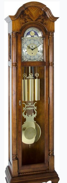 Hermle Pennington Floor Clock with Bonnet Pedimen