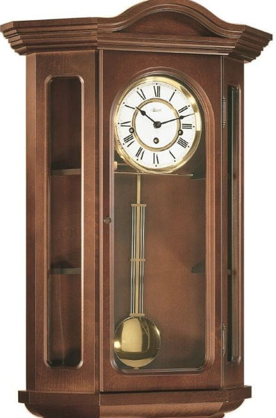 Hermle Faulkner Curio Wall Clock with Mechanical 8 Day Westminster Chiming Movement