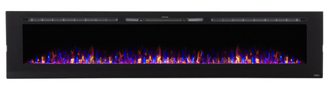 "Touchstone Sideline 100"" Recessed Electric Fireplace 80032"