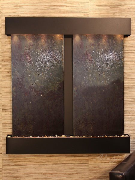 Adagio Aspen Falls Square Blackened Copper Multi Color Featherstone AFS1514