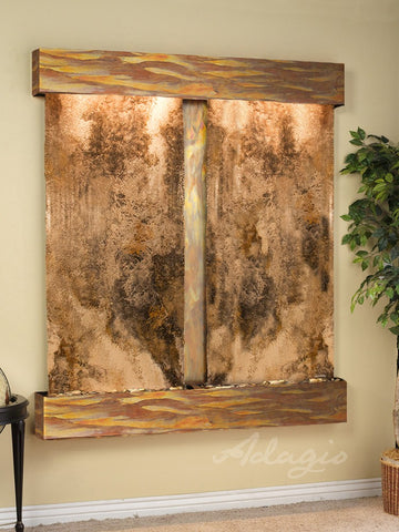 Adagio Cottonwood Falls Square Rustic Copper Magnifico Travertine CFS1008