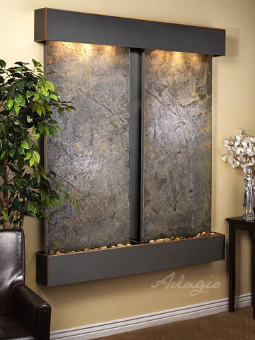 Adagio Cottonwood Falls Square Blackened Copper Green Featherstone CFS1512
