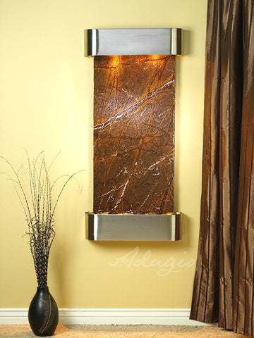 Adagio Cascade Springs Round Stainless Steel Brown Marble CSR2006