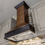 ZLINE Wooden Wall Mount Range Hood in Antigua and Hamilton - Includes CFM Remote Motor 329AH-RD-30