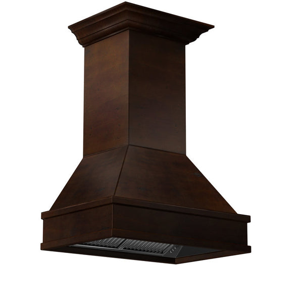 ZLINE Wooden Wall Mount Range Hood in Walnut and Hamilton - Includes CFM Motor 329WH-30