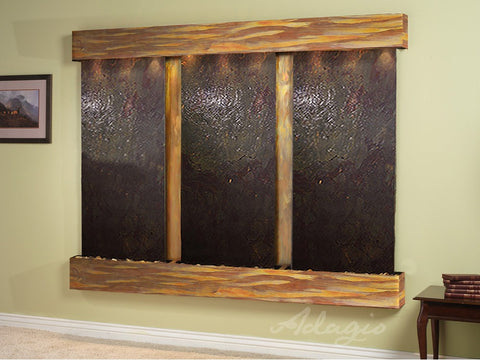 Adagio Deep Creek Falls Square Rustic Copper Multi Color Featherstone DCS1014