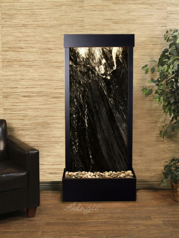 Adagio Harmony River Flush Mount Blackened Copper Black Marble HRF1507