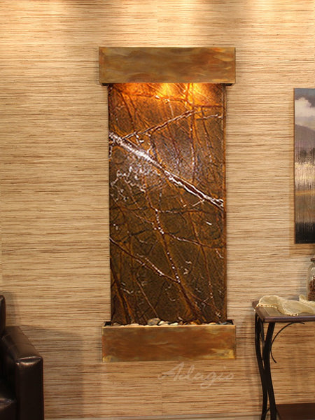 Adagio Inspiration Falls Square Rustic Copper Brown Marble IFS1006