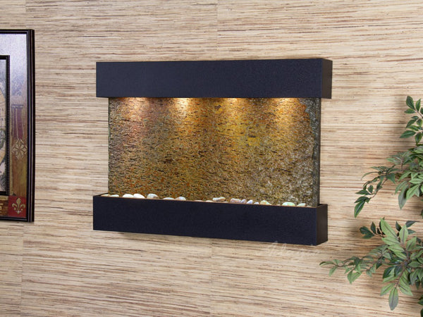 Adagio Reflection Creek Textured Black Multi Color Natural Slate RCS1704