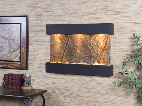 Adagio Reflection Creek Textured Black Brown Marble RCS1706