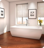"Produits Neptune Saphyr 72"" White Customizable Free Standing Rectangular Bathtub SY3872"
