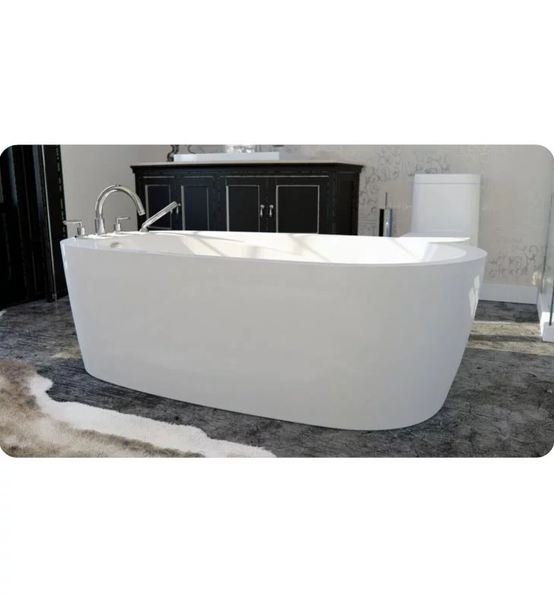 "Produits Neptune One Piece Vapora 65"" White Customizable Free Standing Oval Bathtub VA3666F1"