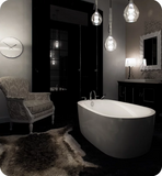 "Produits Neptune One Piece Vapora 71"" White Customizable Free Standing Oval Bathtub VA3672F1"