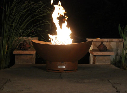 Fire Pit Art Scallop/Tidal 10019 - Admired Home