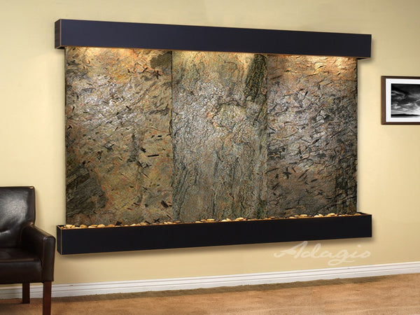 Adagio Solitude River Square Blackened Copper Green Natural Slate SRS1502