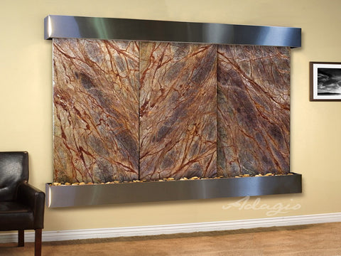 Adagio Solitude River Square Stainless Steel Brown Marble SRS2006