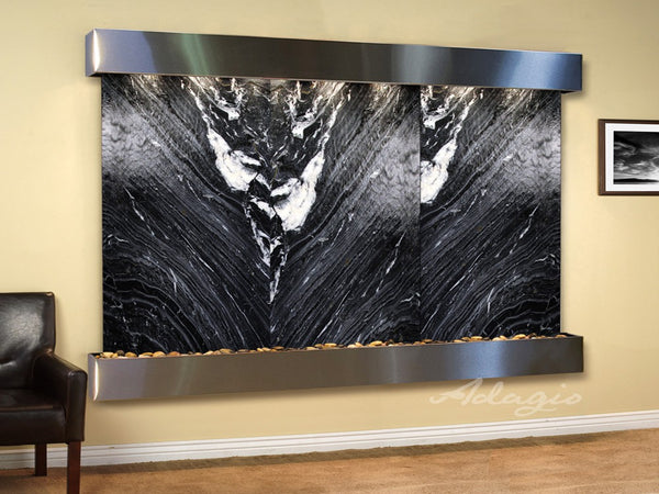 Adagio Solitude River Square Stainless Steel Black Marble SRS2007