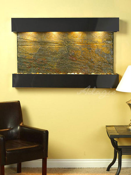 Adagio Sunrise Springs Square Blackened Copper Green Natural Slate SSS1502