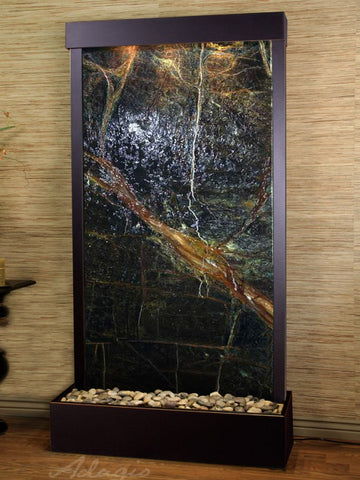 Adagio Tranquil River Flush Mount Blackened Copper Green Marble TRF1505