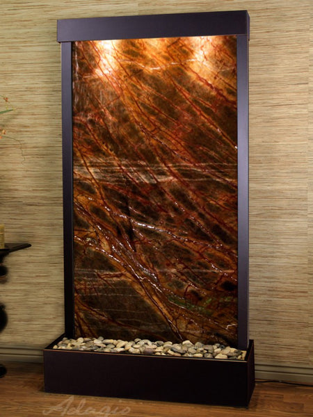 Adagio Tranquil River Flush Mount Blackened Copper Brown Marble TRF1506