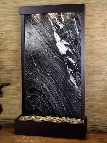 Adagio Tranquil River Flush Mount Blackened Copper Black Marble TRF1507