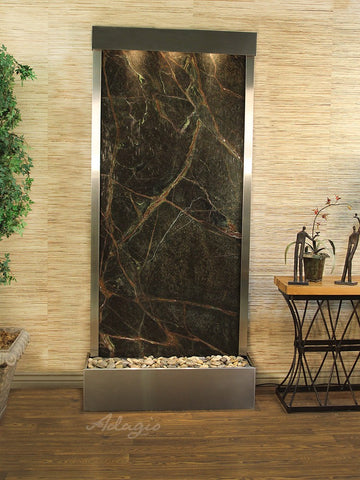 Adagio Tranquil River Flush Mount Stainless Steel Green Marble TRF2005