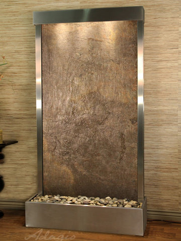 Adagio Tranquil River Flush Mount Stainless Steel Green Featherstone TRF2012