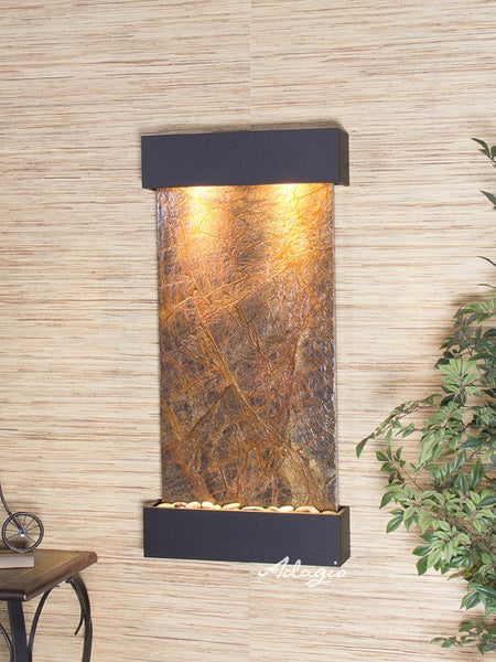 Adagio Whispering Creek Textured Black Brown Marble WCS1706