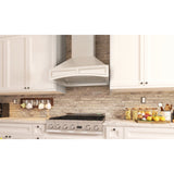ZLINE Wooden Wall Mount Range Hood in White - Includes CFM Motor 321TT-30