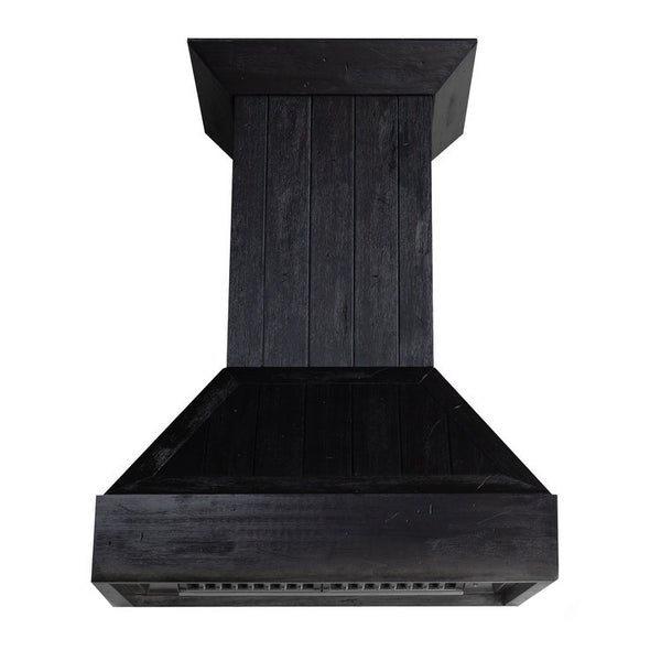 ZLINE Shiplap Wooden Wall Mount Range Hood in Rustic Dark Finish - Include CFM Motor 349DD-30