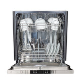 ZLINE Top Control Dishwasher in Stainless Steel with Stainless Steel Tub and Modern Style Handle DW-304-18