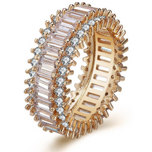 Load image into Gallery viewer, Round Rose Gold Eternity Band