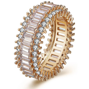 Round Rose Gold Eternity Band
